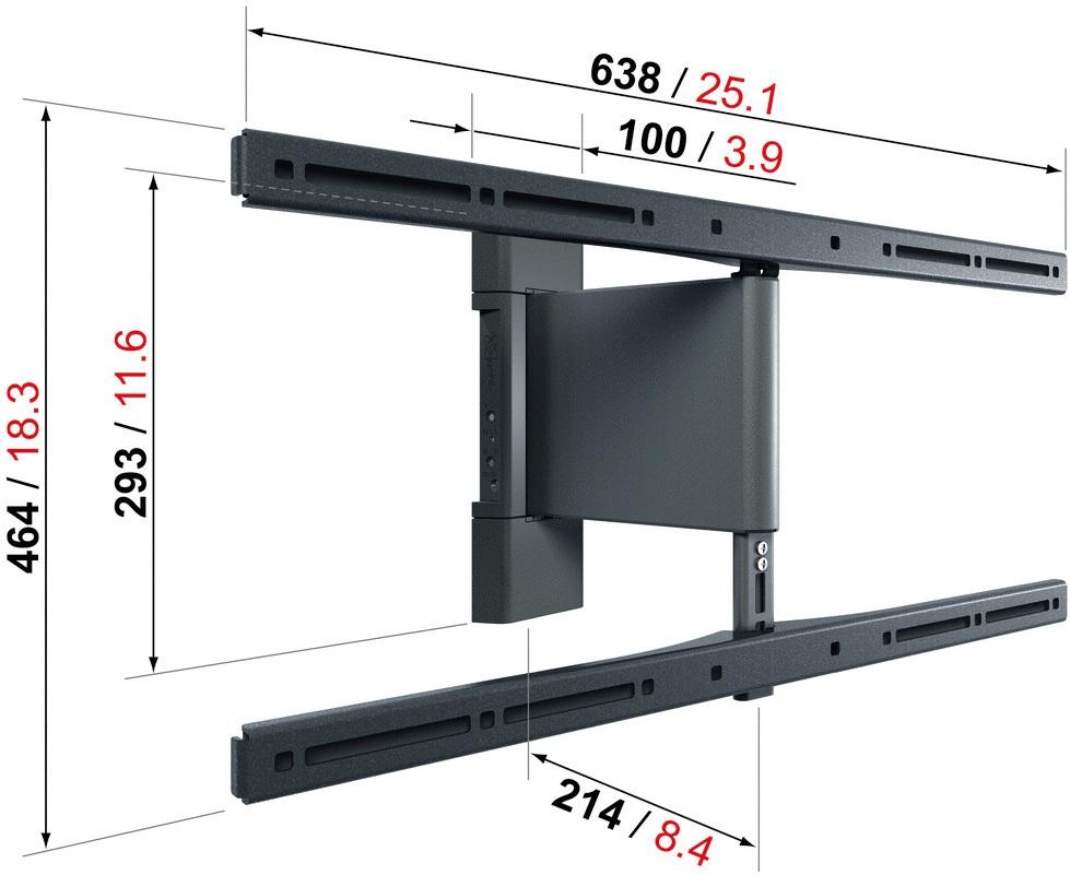 vogel 39 s thin rc 355 kauko ohjattava sein kiinnike 32 55 televisioille kauko ohjattavat. Black Bedroom Furniture Sets. Home Design Ideas