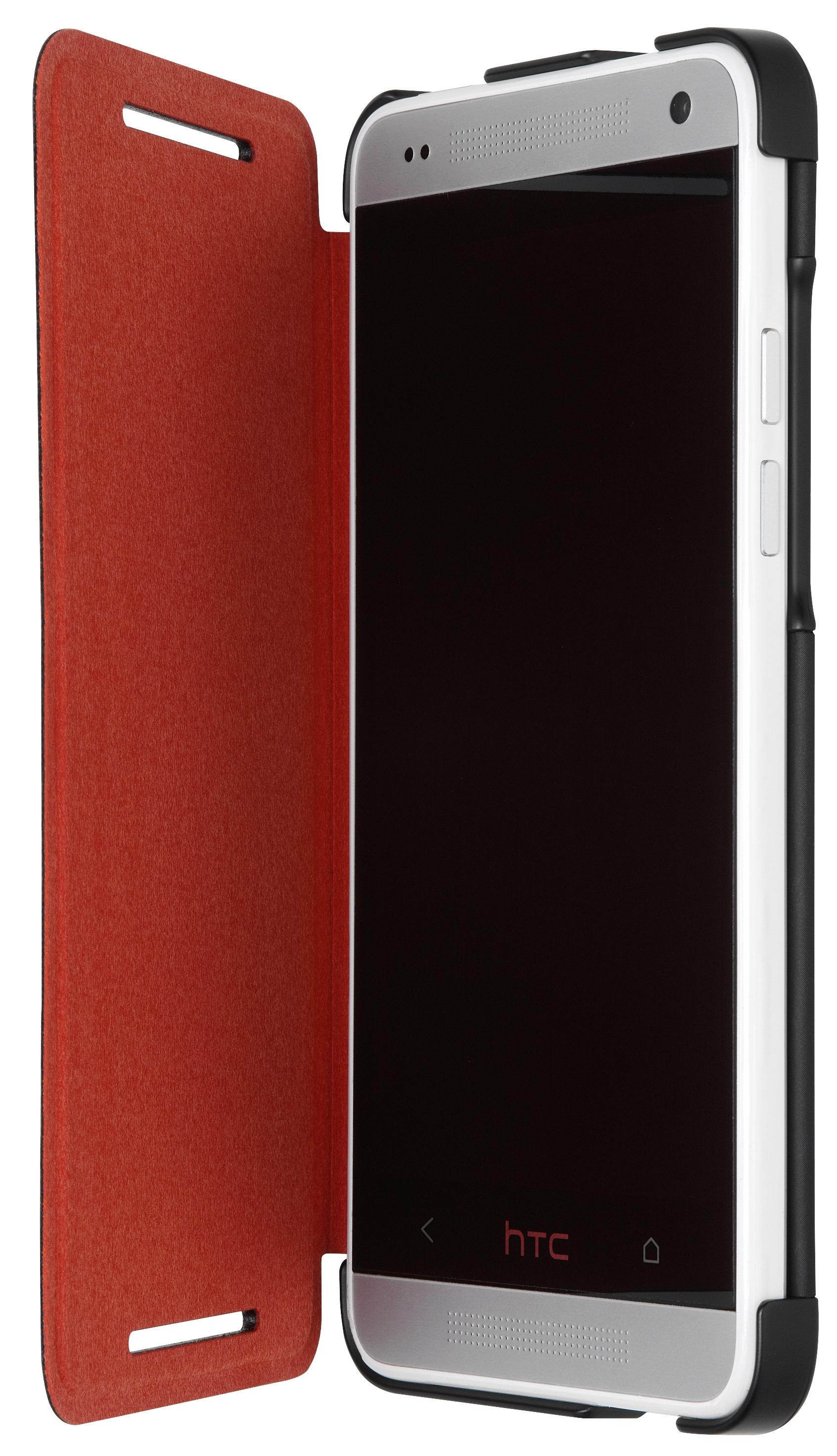 HTC One mini Flip Case suojakotelo, musta/punainen
