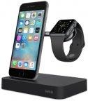 Belkin Valet Charge Dock -lataustelakka Apple Watchille ja iPhonelle, musta