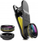Black Eye G4 Kit 3 in 1, Fish eye, Wide, Macro -linssit puhelimeen