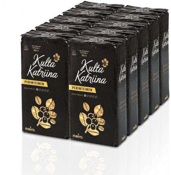 Meira Kulta Katriina ‐jauhettu kahvi, 10 x 500 g, 10-PACK – Jauhetut – Kahvi ja tee – Ruoka ja ...