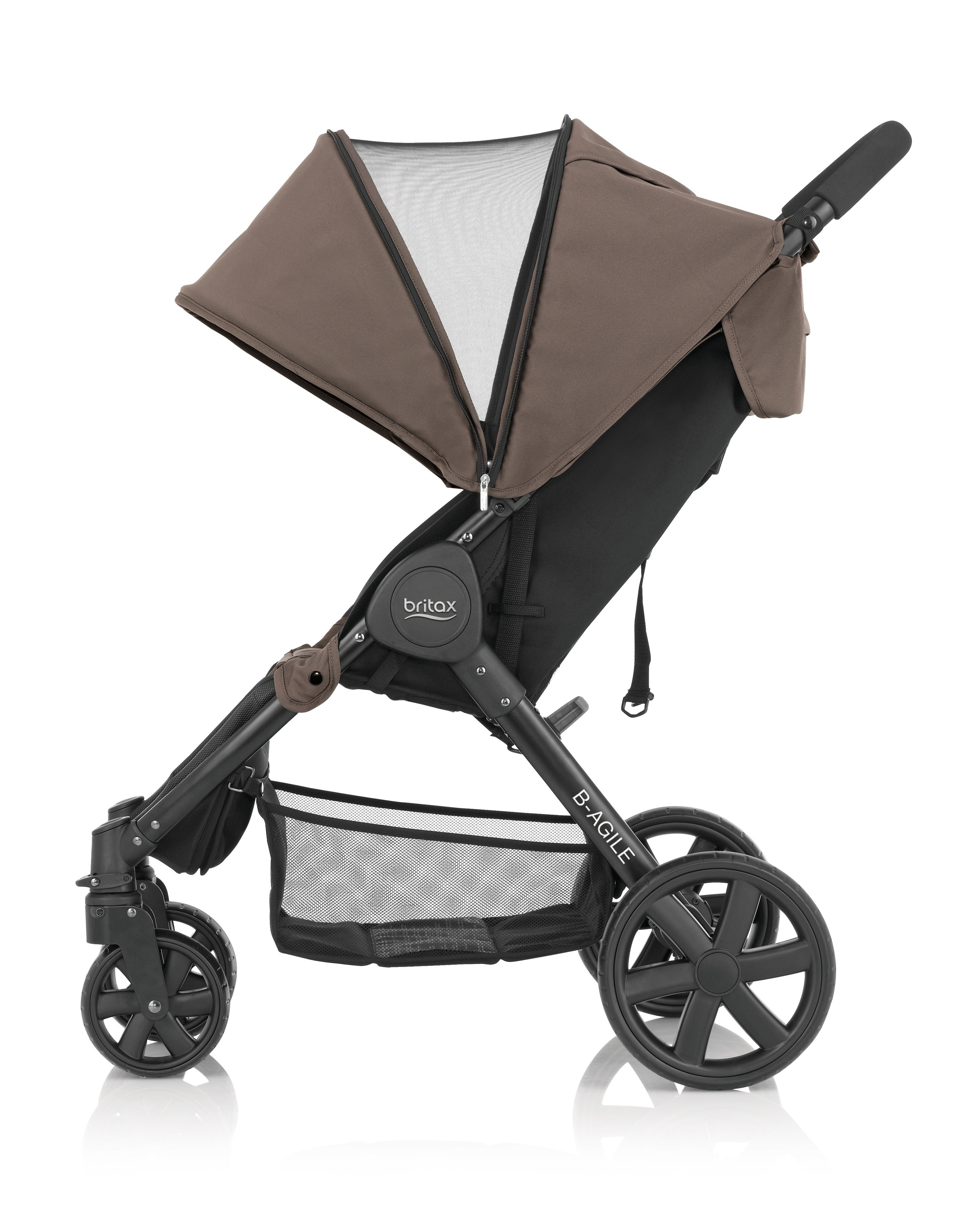 britax b agile 4 rattaat fossil brown rattaat lastenvaunut ja rattaat. Black Bedroom Furniture Sets. Home Design Ideas